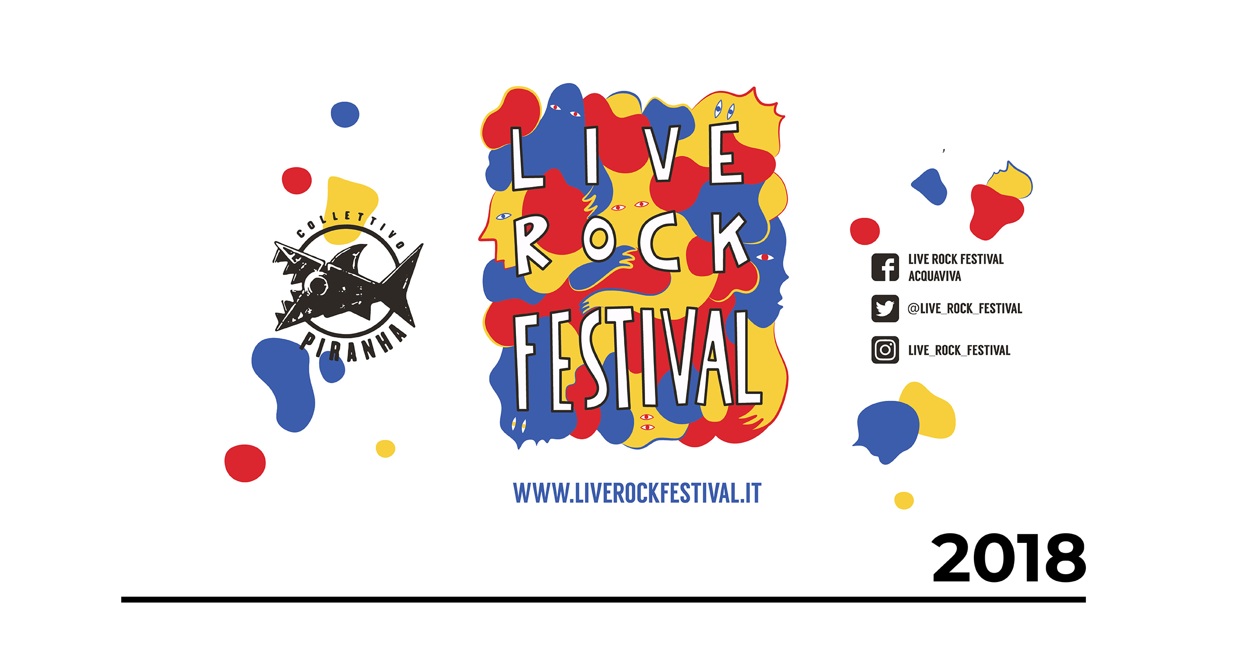 Illustrazione Bicchiere Live Rock Festival 2018