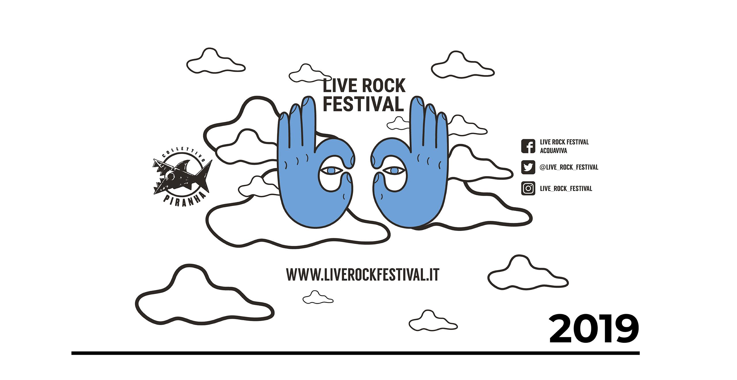 Illustrazione Bicchiere Live Rock Festival 2019