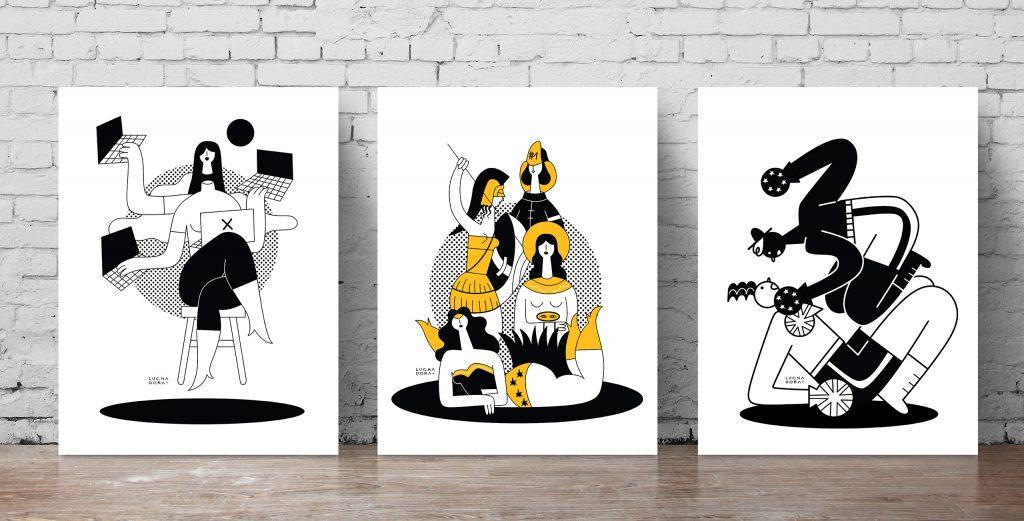 Illustrazioni Scomodo Luchadora